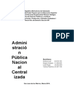 Adm Publica Nacional Centralizada