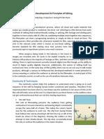 The Development & Principles of Editing
