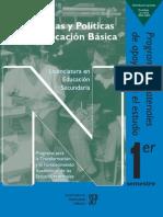 Problemas y Politicas de la Educación Básica
