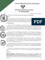 Directiva Para Recursos a Centros Poblados
