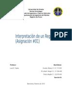 asignacion Registro de Pozos