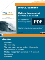 MySQL Sandbox  Multiple independent  servers in one host