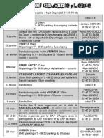 Programme rando 2015 1er semestre