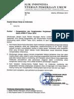 Surat Perihal Pengendalian Dan Penghematan Perjadin Dan Meeting Dalam Apbnp Tahun 2014