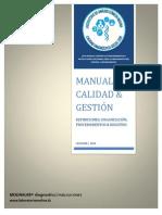 Manual de Calidad y Gestión Laboratorio Molina 2014