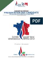 Présentation des candidats RBM départementales Lot