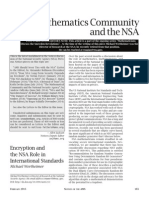 The Mathematics Community and the NSA
