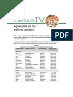 Agronomia de Los Cultivos Andinos