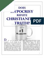 Does HYPROCRISY Refute Christianity's Truth?