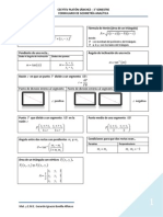 Formulario Geometría Analítica Básico