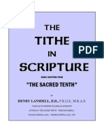 The TITHE In Scripture
