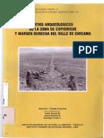 Sitios Arqueológicos de La Zona de Cupisnique y Margen Derecha Del Valle de Chicama