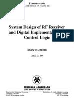 (Elect Cirdig Vlsi) - (Tesis) System Design of Rf Receiver and Digital Implementation of Control Logic