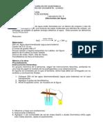 Laboratorio No.3 Electrolisis