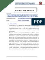 Memoria Descriptiva Agua Kahuasiri Ultimo
