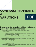 Contract Payments & Variations -3