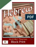 Hebrew Lessons - Alef-Bet Tracing Block Print (3472678)