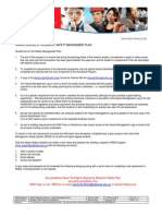 HSW Handbook - Chapter 3.24 - Higher Degree by Research - Safety Management Plan Info Sheet - Approved by Vice-Chancellor and President 11 February 2010