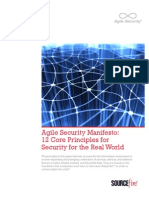 Sourcefire Agile Security Manifesto