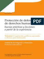 Manual Sobre La Proteccion de Defensores Vol 1
