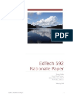 EdTech 592 Rationale Paper
