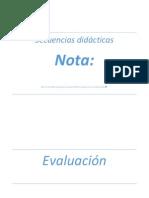 Portadas Secuencias, Evaluacion, Marco Teorico, Anexos