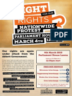 National Day of Action March 4 2015