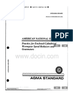 226844471 ANSI AGMA 6034 B92 Practice for Enclosed Clindrical Wormgear Speed Reducers and Gearmotors Libre