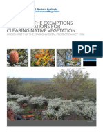 Guide 1 - Exemptions and Regulations for Clearing Native Vegetation