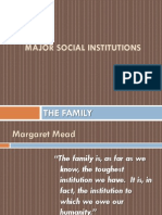 The FAMILY_major Social Institution