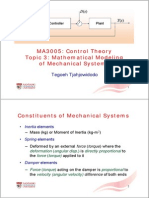 MA3005 Topic 3b - Mechanical Systems