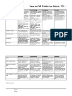exhibition assessment rubric 2011