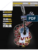 Programacion Festival Juvenil de Guitarra 2009