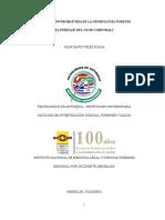 """""""APLICACIÓN PROBATORIA DE LA ODOROLOGÍA FORENSE (EL PERITAJE DEL OLOR CORPORAL)"""""""