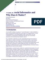 Waht is Social Informatics RKling