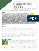 term 1, week 3 newsletter