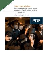 Double Life of Hasidic Atheist Jews