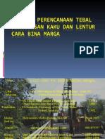 Prinsip Perencanaan Tebal Perkerasan Kaku & Lentur, Cara Bina Marga, 37 Hal.