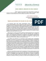 Algunas Reflexiones Sobre El Mercado de Suelo Urbano - Carlos Morales - 2007