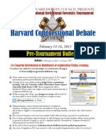 Harvard Congress Pre-Tournament Bulletin 2015
