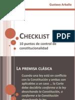 Checklist de Control de Constitucionalidad