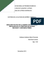 IDEOLOGÍA POLÍTICA DE LA GUERRA CIVIL ESPAÑOLA REFLEJADA EN LA LITERATURA DE ANTONIO MACHADO Y JOSÉ MARIA PEMÁN