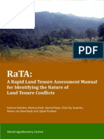 A Rapid Land Tenure Assessment Manual
