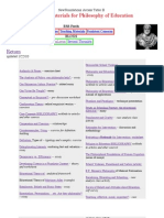 Philosophy of Education Catalog