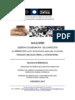 Magíster Gestión Colaborativa de Conflictos 2010