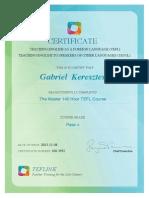 certificate tefl tesol