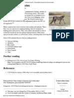 Endangered Species - Sim..., The Free Encyclopedia