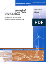 Land-Use Requirements of Modern Wind Power Plants