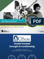 Citadel Football S&C. NSCA 2014 - Boucher Handouts
