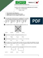 Matematica Clasa VI Etapa II